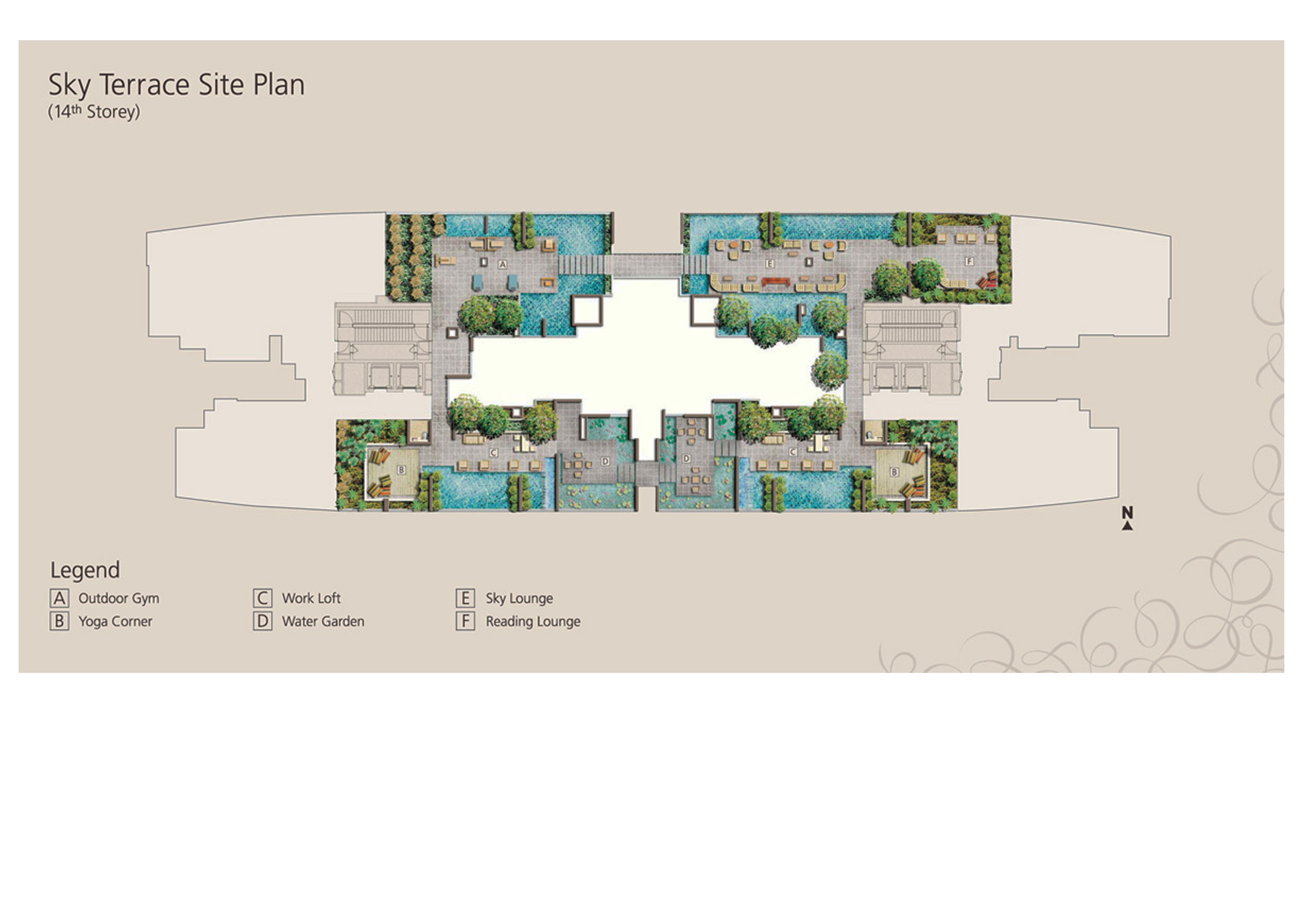 Rent For 1 Bedroom Apartment Site Plan Martin Place Residences Singapore Condo